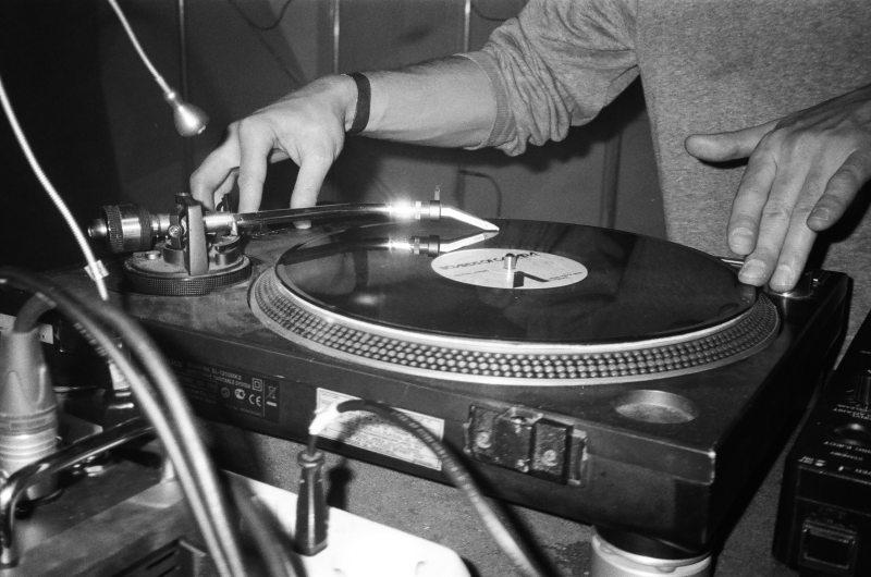 DJ playing on vinyl
